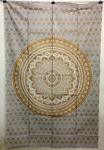 Modern Mandala Wonderful Design Picture Twin Tapestry Cotton Fabric Bedspread