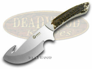 Boker Arbolito Fixed Blade Gut Hook Knife Genuine Deer Stag Stainless 02BA510HH