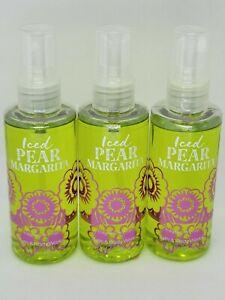 Bath & Body Works Iced Pear Margarita Travel Size Fragrance Mist x3