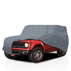 [CSC] Semi Custom Fit 4 Layer Full Car Cover for Ford Bronco II SUV 1984-1990