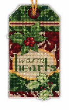 """New listing Nip Dimensions Counted Cross Stitch Kit Christmas """"Warm Hearts' Ornament"""