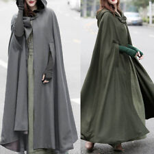 ZANZEA 10-24 Women Long Maxi Cape Cloak Poncho Jacket Coat Plus Size Outerwear