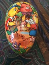 Vintage German Chic Family Paper Mache Easter Egg Candy Container