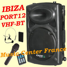 IBIZA PORT12 VHF-BT - USB SD MP3 Bluetooth - 2 micros karaoké - NEUF G= 2 ANS