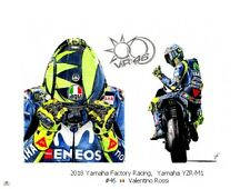 Paper Print 2018 Yamaha YZR-M1 #46 Valentino Rossi door JBL-drawings (LE)