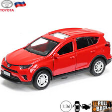 Diecast Car Toyota RAV4 Scale 1:36 Crossover SUV Russian Toy Model Cars 12 cm