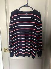 Gap Women's Blue Striped Long Sleeve Sweater Size XL