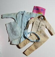 Ken's 1962 Vintage Sleeper Set #781 - Brown Striped Pajamas & Terry Togs Robe