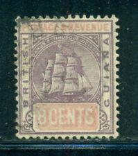 BRITISH GUIANA 139 SG199 Used 1889 8c lilac & rose Ship Wmk Crown CA Cat$4