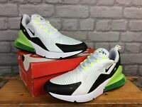 NIKE MENS AIR MAX 270 VOLT YELLOW WHITE BLACK TRAINERS VARIOUS SIZES T