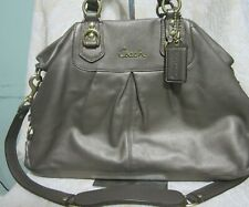 Coach 15513 ASHLEY Taupe Leather Carryall Tote Satchel Crossbody Gold Hdw. NWOT