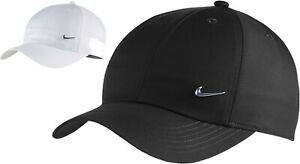 Nike Kid's Cap Adjustable Hat Heritage 86 Junior Youth Metal Logo Summer Black