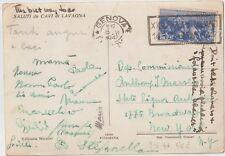 ITALIA 1947 15L COSTITUZIONE ISOLATO SU  CARTOLINA DA  GENOVA PER STATI UNITI NY