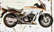 Yamaha FJ1100 1983 Aged Vintage SIGN A4 Retro