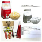 Nostalgia Hot Air Popcorn Popper Red Vintage Style comes w/4 novelty bowls NWOB!