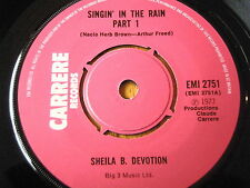 "SHEILA B DEVOTION-Singin 'in the rain 7"" vinyle"
