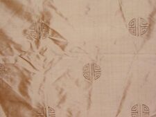 "Lee Jofa ""Ming"" embroidered silk fabric by the yard color gold"