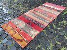 Patchwork, Wool, Runner rug, Turkish, Vintage, Handmade, Carpet | 2,6 x 6,7 ft