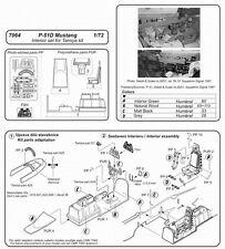 CMK CZECH MASTER'S KITS 7064 - P-51D MUSTANG INTERIOR SET - 1/72 RESIN KIT