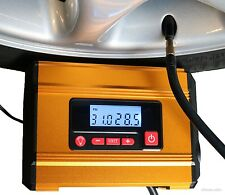 Car Tyre Inflator Pump 12v 100psi Digital Auto Gold Aluminuim Body Detail