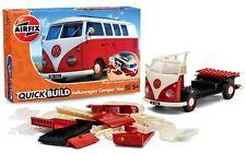 VW bus combi Volkswagen T1 rouge a monter style Lego longueur19,5cm  Airfix neuf
