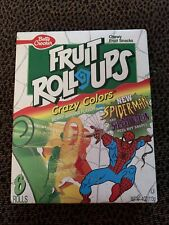 Spider-Man vs The Scorpion Betty Crocker Fruit Roll Ups Unopened Box