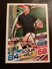 FRANCOIS HOUGAARD SIGNED RUGBY ATTAX TRADING CARD NO.135 SOUTH AFRICA WORCESTER