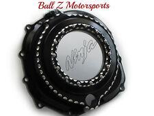 ZX14 ZX-14 ZX-14R Black/Silver Ball Cut See Through Clear Clutch Cover! 06-12-17