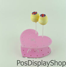 Light Pink Cake Pop Stand - Heart - Holds up to 17 Cake Pops / Lollipops