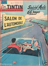 ▬►TINTIN N° 780 de 1963 Cover Hergé SPÉCIAL SALON DE L'AUTOMOBILE