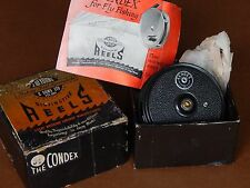 """Collectible Vintage Fly Reel-The Condex(3 1/4"""") JW Young England-Excellent+boxed"""