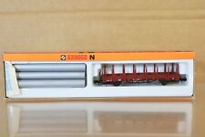 ARNOLD 4473 N SCALE DB RUNGENWAGEN STAKE WAGON with PIPE LOAD MINT BOXED np