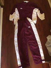 CCC Canterbury Size Small Tack Suit Maroon And White