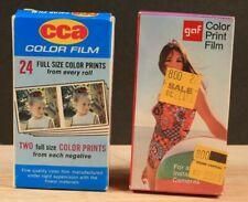 Lot of 2-126 color print film 1-CCA 12 ex.1974-8+ 1-GAF 12 ex.Jan 1979 sealed