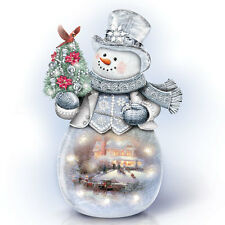 Warm Winter s Glow Snowman Christmas Thomas Kinkade Figurine Bradford Exchange