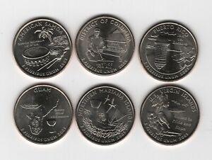 D.C. and U.S. Territories Quarters 2009 : Auswahl alle 6 Quarter in  D oder P