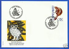 SWITZERLAND, ENDANGERED SPECIES (Castor fiber) 1995, FDC, MICHEL # 1544