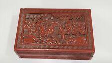 Vintage Chinese Cinnabar Box, Republic Period