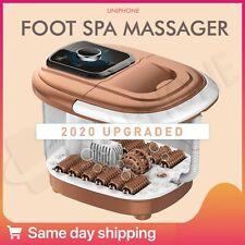 【Bubble】 Footbath Electric Foot Spa Tub Massager Roller Heat Soak Bath English