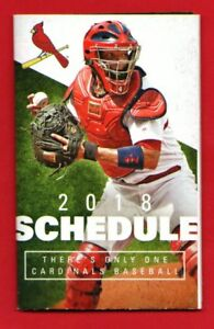 St. Louis Cardinals 2018 Pocket Schedule – Yadier Molina Photo