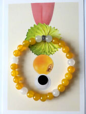 Spiritual Protection Bracelets Stones Yellow Chalcedony with Sterling Silver