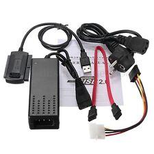 Disque Dur HDD USB 2.0 Vers IDE SATA 2.5 3.5 Adaptateur Convertisseur Cable EU