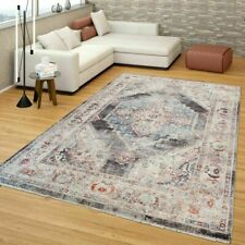 Grey Traditional Rug Vintage Rugs Shabby Chic Oriental Carpet Living Room Mats