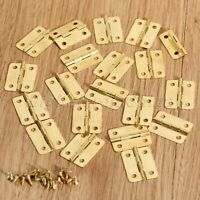 20Pcs Metal Drawer Door Jewelry Box Cabinet Furniture Wooden Case Hinges Mini