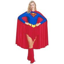 Superwoman Supergirl Superhero Halloween Ladies Adult Party Fancy Dress Costume