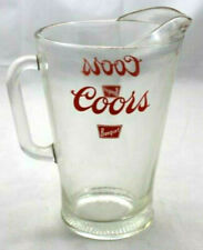 Vintage Coors Beer Banquet Clear Glass Beverage Pitcher 9""