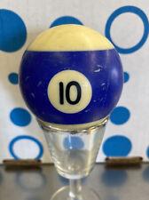 "Replacement Pool Ball Billiards #10 Billiard Ball 2 1/4"" Diameter Vintage"