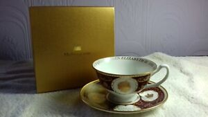 Mulberry Hall : William Edwards Cup/Saucer : Queen Elizabeth II  Diamond Jubilee