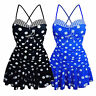 Womens Plus Size Ladies Two Piece Swimsuit Skirted Swimwear Swim dress Costume