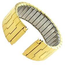 16-21mm Speidel Twist-O-Flex Gold Tone Stainless Steel Mens Watch Band 1613/32